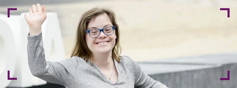 una de las mujeres españolas con síndrome de Down más reconocidas